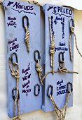 Speleological rope knots