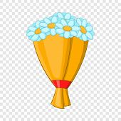 Bouquet Of Flowers Icon. Cartoon Illustration Of Bouquet Of Flowers Vector Icon For Web Design poster