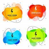 Black Lightning Bolt Icon Isolated. Flash Icon. Charge Flash Icon. Thunder Bolt. Lighting Strike. Se poster
