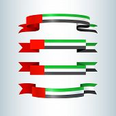 Uae Flag Ribbons Banners Ribbon Icon National Flag Of United Arab Emirates Uae For Card Banner On Ho poster