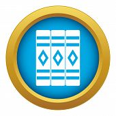 Three Literary Books Icon Blue Vector Isolated On White Background For Any Design poster