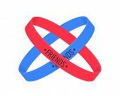 Friendship Day. Friendship Bracelets Isolated On White Background. Vector Illustration poster