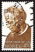 Postage Stamp Norway 1987 Fartein Valen, Composer