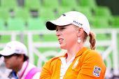 Morgan Pressel (USA) at The Evian Masters golf tournament 2011