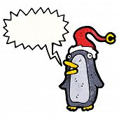cartoon squawking penguin