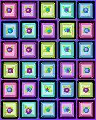 Black Squared Petits Four On Purple