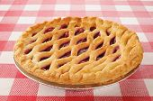 Cherry Pie mit Gitter Top