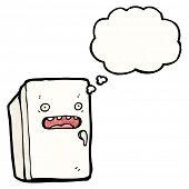 cartoon worried refrigerator