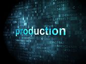 business concept: Production on digital background
