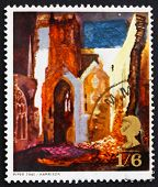 Postage stamp GB 1968 St. Mary le Port, by John Piper