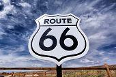Nostalgische Route 66 teken
