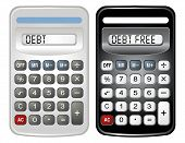 Two Calculators (Debt And Debt Free)