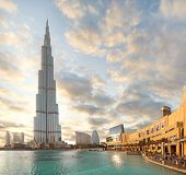 DUBAI, UAE - OCTOBER 23: Burj khalifa, the highest building in the world, Downtown on October 23, 20