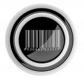 Barcode Button. 3D Icon