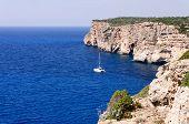 Cova D En Xoroi, Cove In Cala En Porter, Minorca,balearic Islands, Spain