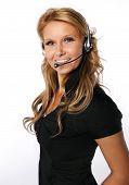 Pretty call center girl
