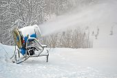 Snow Gun (pulverizer) Disperse Artificial Snow On Mountain, Seasonal Environment
