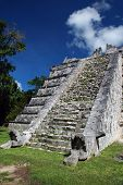 Small Ancient Mayan Pyramid
