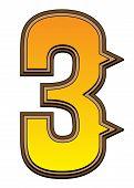 Western Alphabet Number  - 3