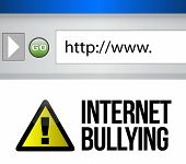 Browser With An Internet Bullying Concept