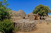 Stone Huts In The Village Des Bories Near Gordes, Southern France