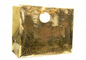 Golden Gift Bag With Tag