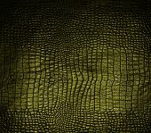 stock photo of crocodile  - luxury dark gold crocodile leather texture for background - JPG