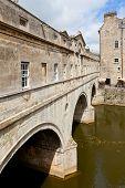 Pulteney Bridge on the River Avon in Bath, England