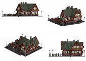 Block Of Four Medieval Houses poster