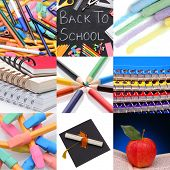 Nine Back to School related images together in a collage.