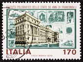 ITALY - CIRCA 1979: a stamp printed in Italy celebrates Italian State Mint and Polygraphic Institute