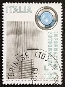 ITALY - CIRCA 1978: a stamp printed in Italy celebrates photographic information showing image of te