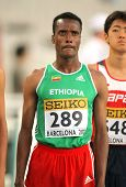 BARCELONA - JULY, 14: Muktar Edris of Ethiopia before 5000 meters of the 20th World Junior Athletics Championships at the Olympic Stadium on July 14, 2012 in Barcelona, Spain