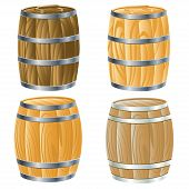 Wooden Barrel Of beer or wine