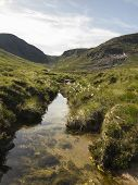 Trassey River And Hares Gap In The Mourne Mountains