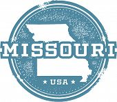 Vintage Missouri USA State Stamp