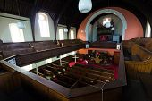 foto of pews  - Jarrow Park Methodist church from the top pews