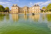 The French Senate And The Jardin Du Luxembourg, Paris, France