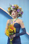 KIEV, UKRAINE - AUGUST 29: Alina Maksymenko of Ukraine win bronze during the 32nd Rhythmic Gymnastic