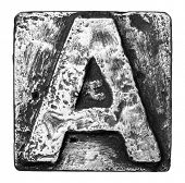 Metal alloy alphabet letter A