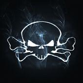 Skull And Bones In The Smoke
