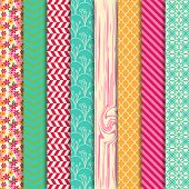 foto of paper craft  - Vector Collection of Bright and Colorful Backgrounds or Digital Papers - JPG