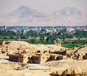 pic of hatshepsut  - View of the Luxor from the temple of Queen Hatshepsut in Egypt