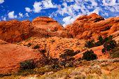 Rock Canyon Devils Garden Arches National Park Moab Utah