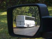 Bus In Mirror