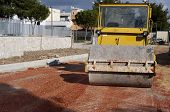 road roller compact foundation