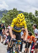 Yellow Jersey On Alpe D'huez