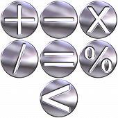 3D Silver Math Symbols