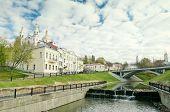 Svyato-duhov Monastery And Vitba River In Vitebsk Belarus