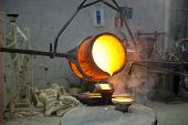 pic of blast-furnace  - Bronze Casting For The preparation Of The Statues  - JPG